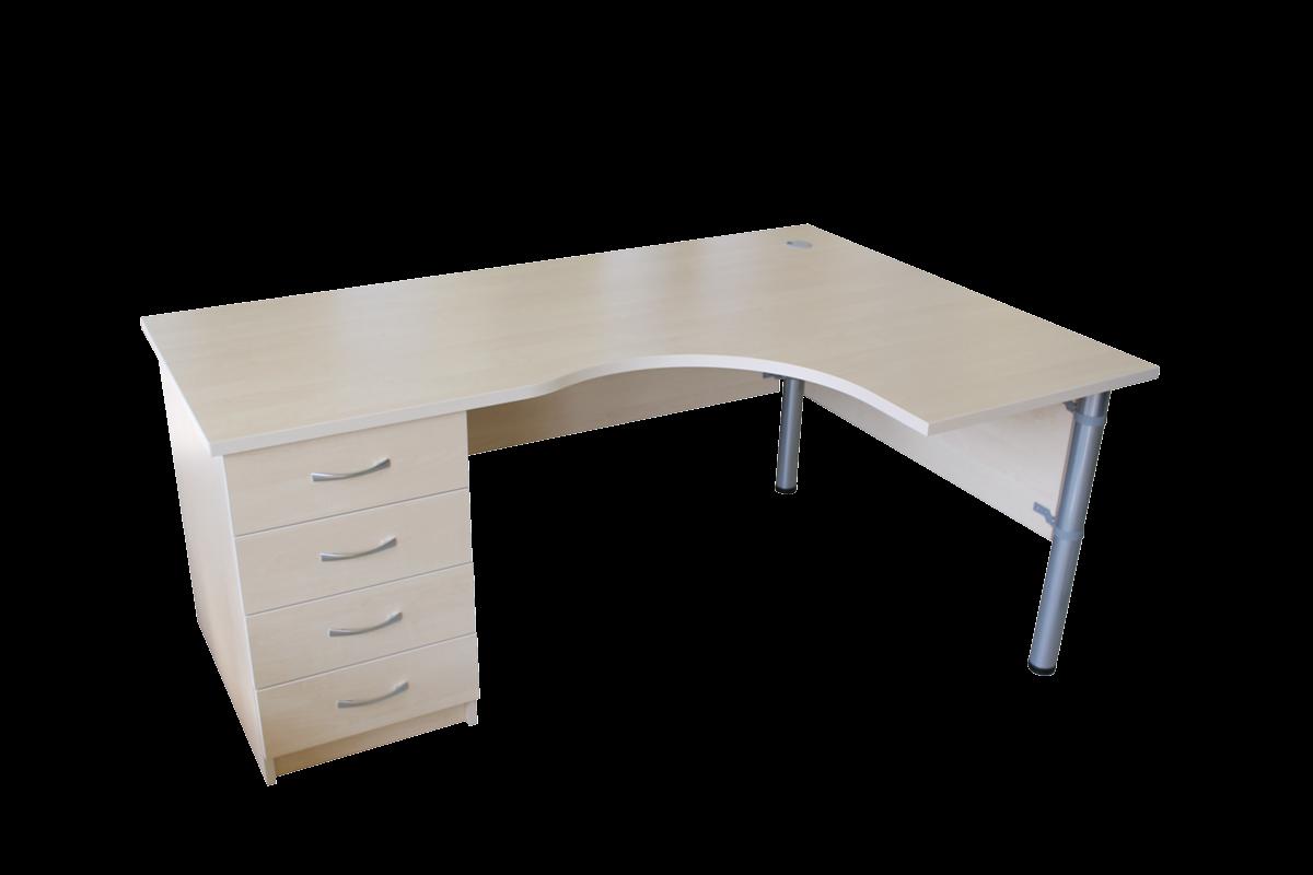 Kampinis rašomasis stalas su stalčių bloku M-ST2D-SB