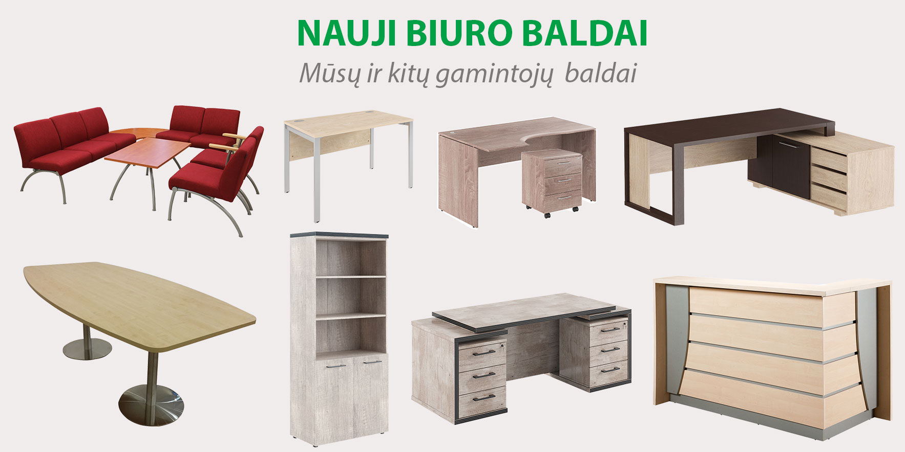 Nauji biuro baldai